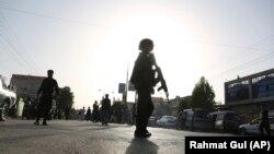 Военнослужащий афганского правительства в Кабуле, август 2018 года.