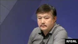Kyrgyz parliamentarian Akmatbek Keldibekov,who wants deputies to be able to carry guns for their own protection.