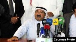 وزير شؤون الديوان الأميري الكويتي الشيخ ناصر صباح الاحمد يتحدث في السليمانية