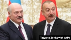 Аляксандар Лукашэнка і Ільхам Аліеў 19 лістапада ў Менску