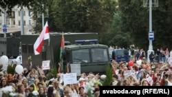 Акция протеста в Минске 29 августа 2020 года