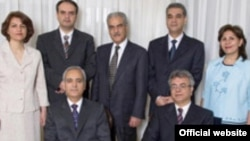 Jamaloddin Khanjani (standing, third from left)