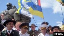 Під час вшанування загиблих на Берестецькому полі, 29 червня 2008 рік.