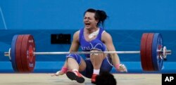 Светлана Подобедова 2012 жылы Лондон олимпиадасында алтын алған сәт.