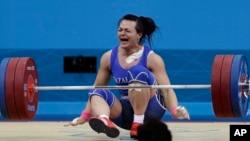 Тяжелоатлет Светлана Подобедова.