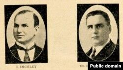 Ion Inculeț și Daniel Ciugureanu (Foto: Gh. V. Andronachi, Albumul Basarabiei în jurul marelui eveniment al unirii, Chișinău, 1933)