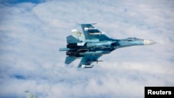 Російський літак Су-27, ілюстративне фото