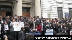 Тбилисидеги студенттердин нааразылыгы