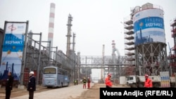 The refinery of Serbia's Oil Industry in Pancevo, near Belgrade, November 21, 2011.