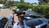 Окуя болгон жерге келген полиция кызматкерлери. 22-июль, 2019-жыл