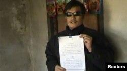 Слепой китайский правозащитник Чэнь Гуанчэн