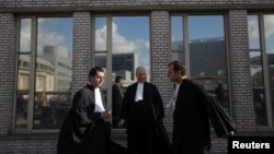 Haški sud, na pauzi jednog od suđenja, 2011.