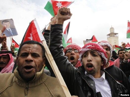 تظاهرات حامیان پادشاه اردن در امان