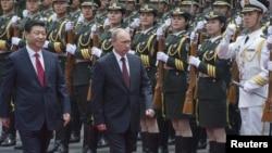 Çin prezidenti Xi Jinping və Rusiya prezidenti Vladimir Putin - 2014