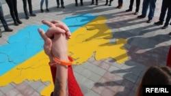 Акція на захист виборчих прав вимушено переміщених осіб у Запоріжжі, 14 березня 2017 року