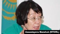 «Аман-саулық» қорының президенті Бақыт Түменова. Алматы, 19 тамыз 2013 жыл.