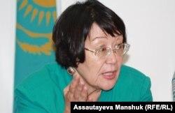 «Аман-саулық» ұйымының жетекшісі Бақыт Түменова. Алматы, 19 тамыз 2013 жыл.