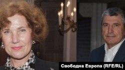 Елена Поптодорова, бивш посланик на България в САЩ и Илиян Василев, бивш посланик на България в Русия.