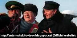 """Прэзыдэнт """"Нацыянальнага фронту"""" Жан-Мары Лё Пэн і Ўладзімір Жырыноўскі, 1996 год"""