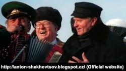 Жан-Мари Ле Пен и Владимир Жириновский в Москве в 1996 году