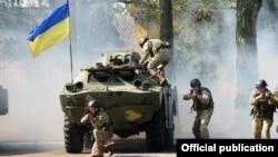 Украинские военнослужащие. Иллюстративное фото.