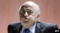 جوزيف بلاتر رئيس الاتحاد الدولي لكرة القدم