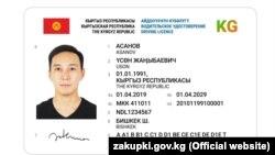 Эскиз нового водительского удостоверения.