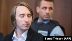 Обвиняемый на суде в Дортмунде, Германия, 8 января 2018 год