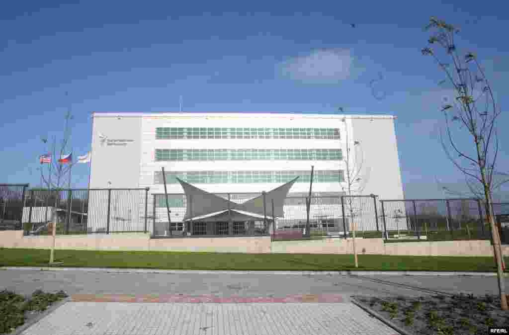 RFE/RL's new home in Prague. As of June 2009, all operations will take place here. - From the front
