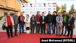 مشاركون في مهرجان اسبوع الافلام القصيرة الاول في السليمانية