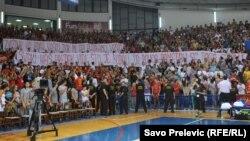 Podgorica: Navijači aplauzom pozdravili himnu Srbije