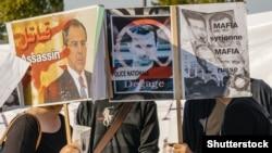 Акція протесту проти підтримки Росією режиму Башара аль-Асада. Франція, Страсбург, 20 серпня 2015 року