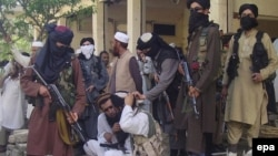 FILE: Pakistani Taliban militants in Buner, April 2009.
