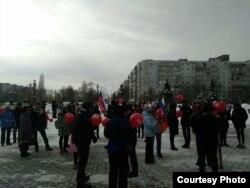 Акция Навального в Старом Осколе. Фотография предоставлена Сашей. Р