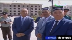 Визит президента Узбекистана Ислама Каримова в Сурхандарьинскую область, 30 июня 2016 года.