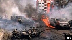 Pamje pas sulmit të sotëm me bombë kundër konvojit të prokurorit Barakat në Kajro
