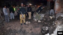 Pamje pas një sulmi të mëparshëm në Kueta të Pakistanit