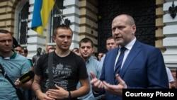 Активист Сергей Стерненко и народный депутат Борислав Береза после встречи с руководством МВД Украины, Одесса, 9 июня 2017 год