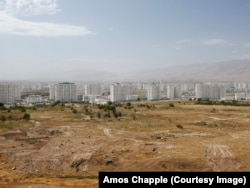 Scrubland at the edge of Ashgabat
