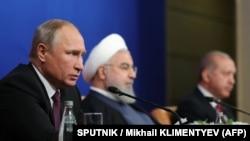 Vladimir Putin, Hasan Rohani i Redžep Tajip Erdoan (arhivska fotografija)