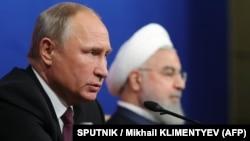 Президент РФ В.Путин и президент Ирана Х.Рухани
