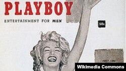 Merylin Monroe në ballinën e Playboy-t, më 1953.