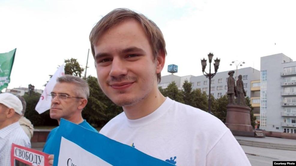 Юрій Ізотов на пікеті