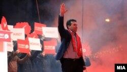Zoran Zaev na predizbornom skupu SDSM