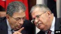 طالباني وموسى في إجتماع بالقاهرة 2005