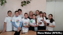 Теміртаудағы №16 эко-мектептің зерттеуші оқушылары. 14 қараша 2017 жыл.
