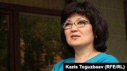 Жаннат Зиманова, жена заключенного Мухтара Зиманова. Алматы, 11 июля 2013 года.