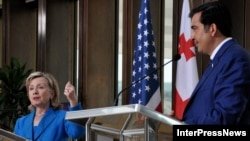 Secretarul de stat american Hillary Clinton la Tbilisi