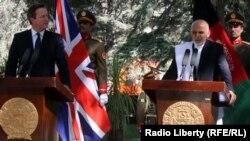 Британскиот премиер Дејвид Камерон и авганистанскиот претседател Ашраф Гани.