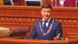 Zelenskiy Sworn In As Ukrainian President, Says He Is Dissolving Parliament